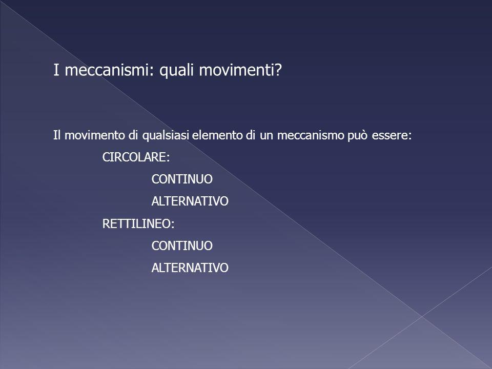 I meccanismi: quali movimenti