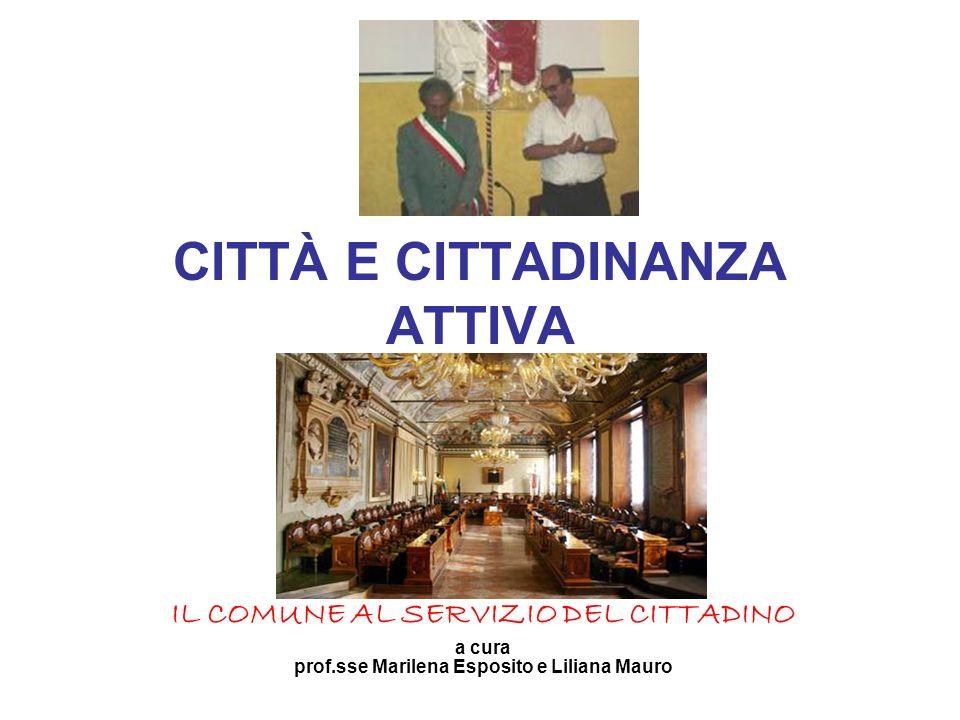 CITTÀ E CITTADINANZA ATTIVA