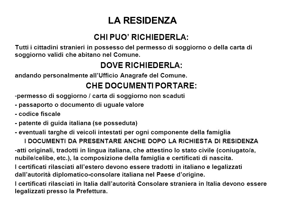 Best Carta Di Soggiorno Documenti Da Presentare Images - Design ...