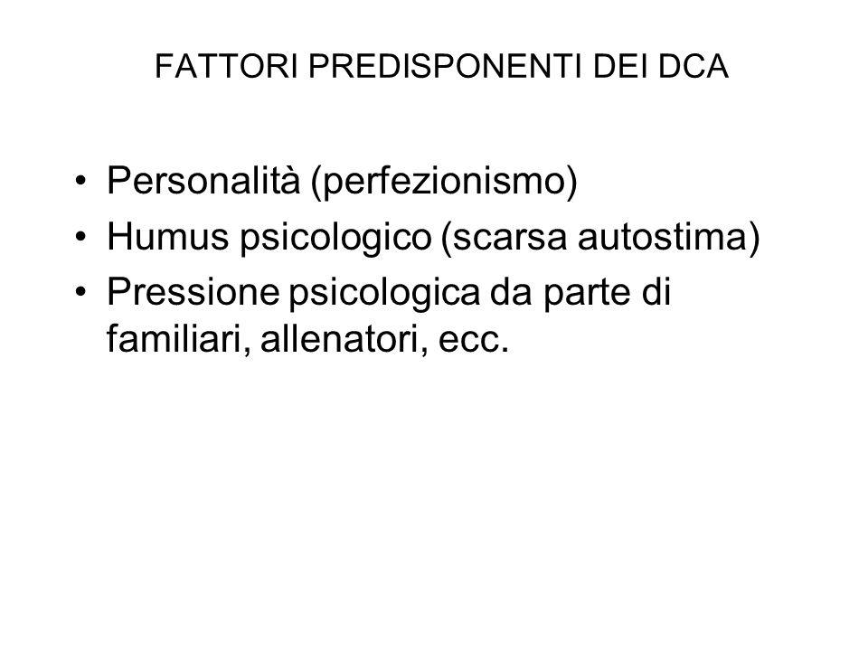 FATTORI PREDISPONENTI DEI DCA