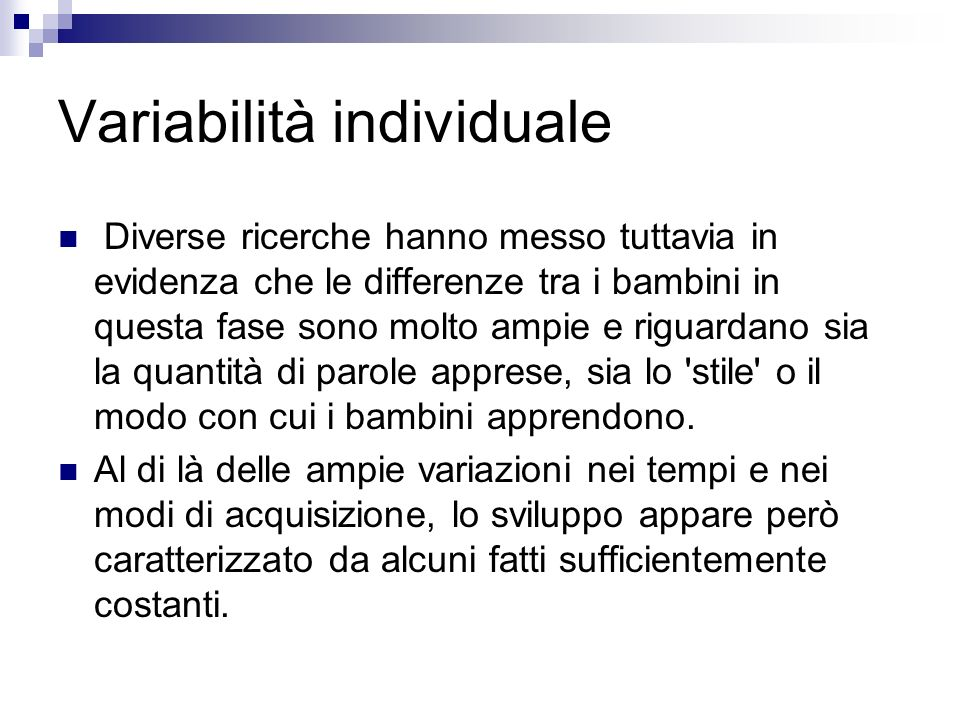 Variabilità individuale
