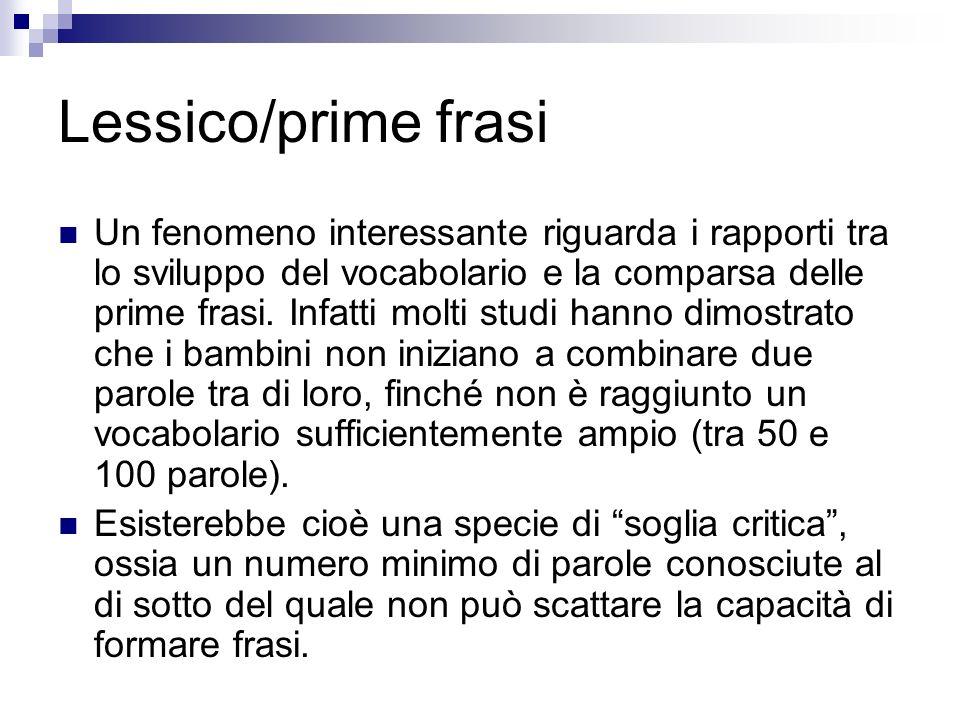 Lessico/prime frasi