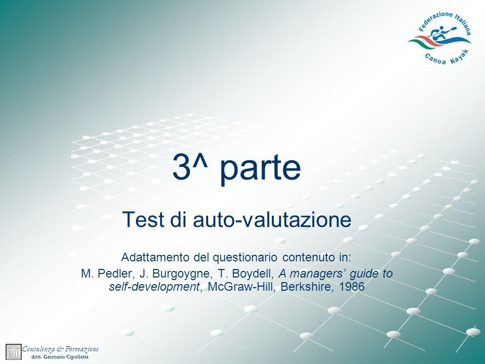 3^ parte Test di auto-valutazione
