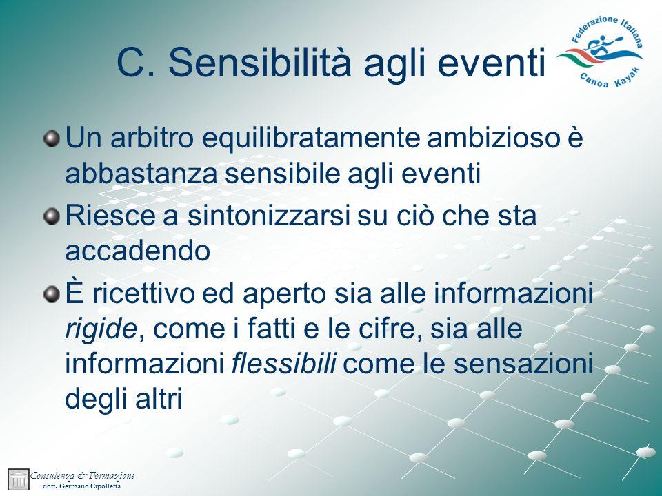 C. Sensibilità agli eventi
