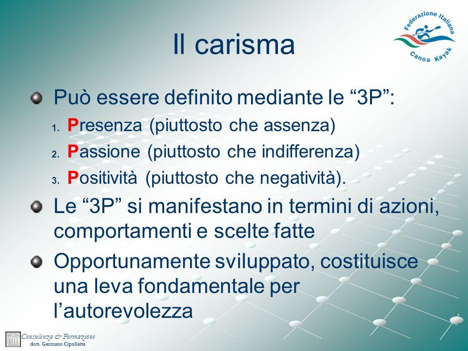Il carisma Può essere definito mediante le 3P :