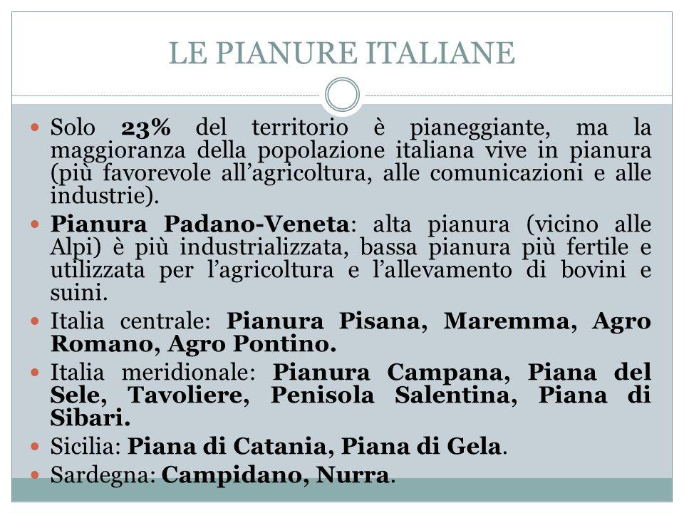 LE PIANURE ITALIANE