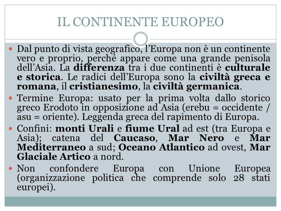 IL CONTINENTE EUROPEO
