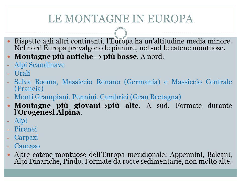LE MONTAGNE IN EUROPA