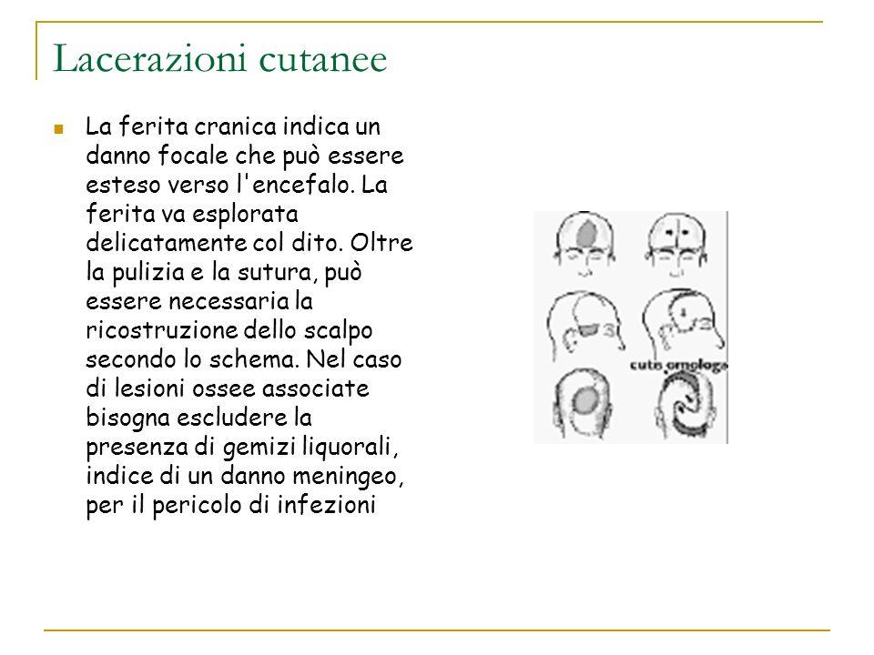 Lacerazioni cutanee