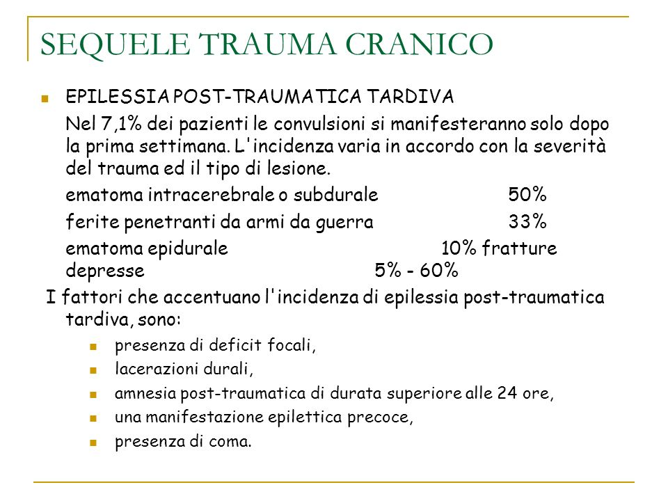 SEQUELE TRAUMA CRANICO