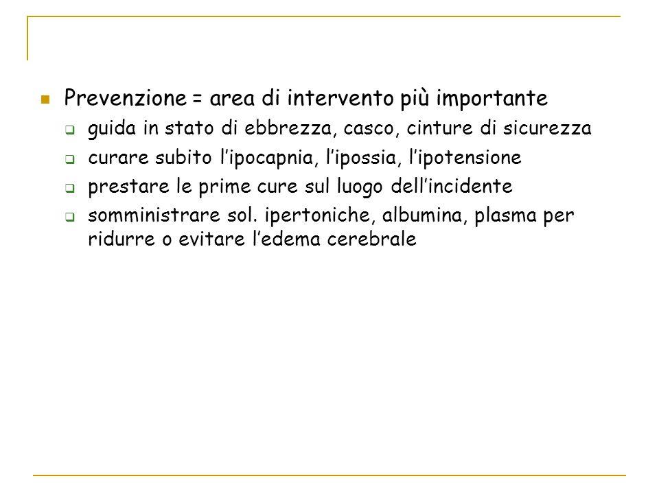 Prevenzione = area di intervento più importante
