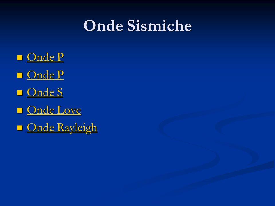 Onde Sismiche Onde P Onde S Onde Love Onde Rayleigh