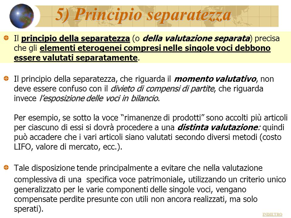 5) Principio separatezza