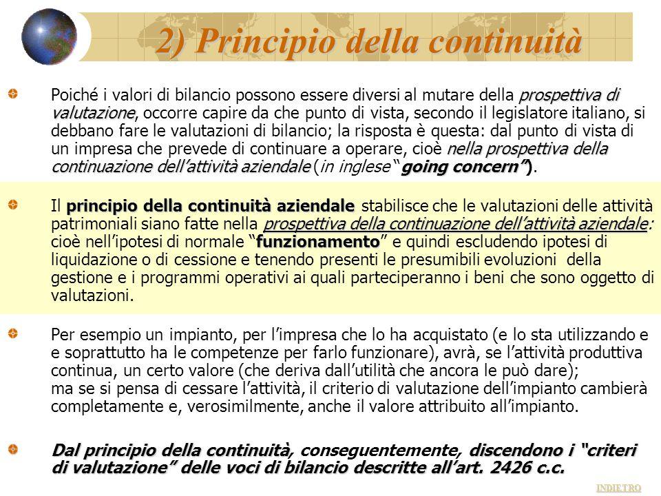 2) Principio della continuità