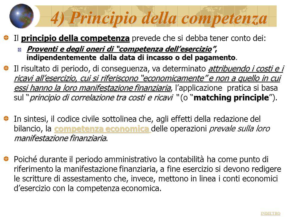 4) Principio della competenza