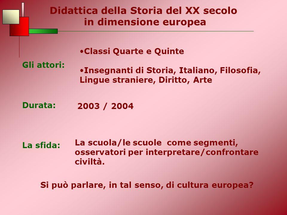 Didattica della Storia del XX secolo