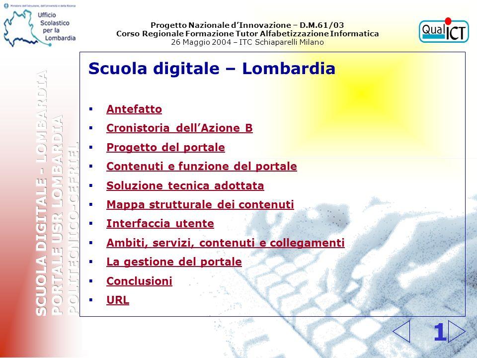 Progetto Nazionale d'Innovazione – D.M.61/03