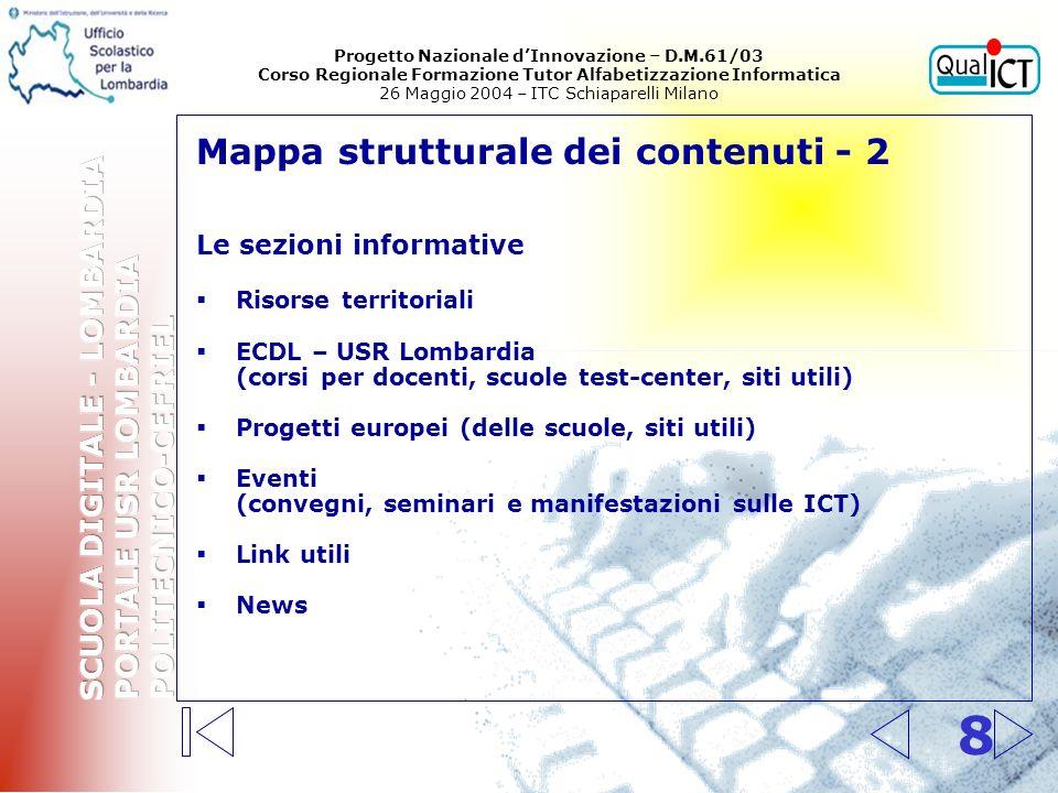 Interfaccia utente – home page