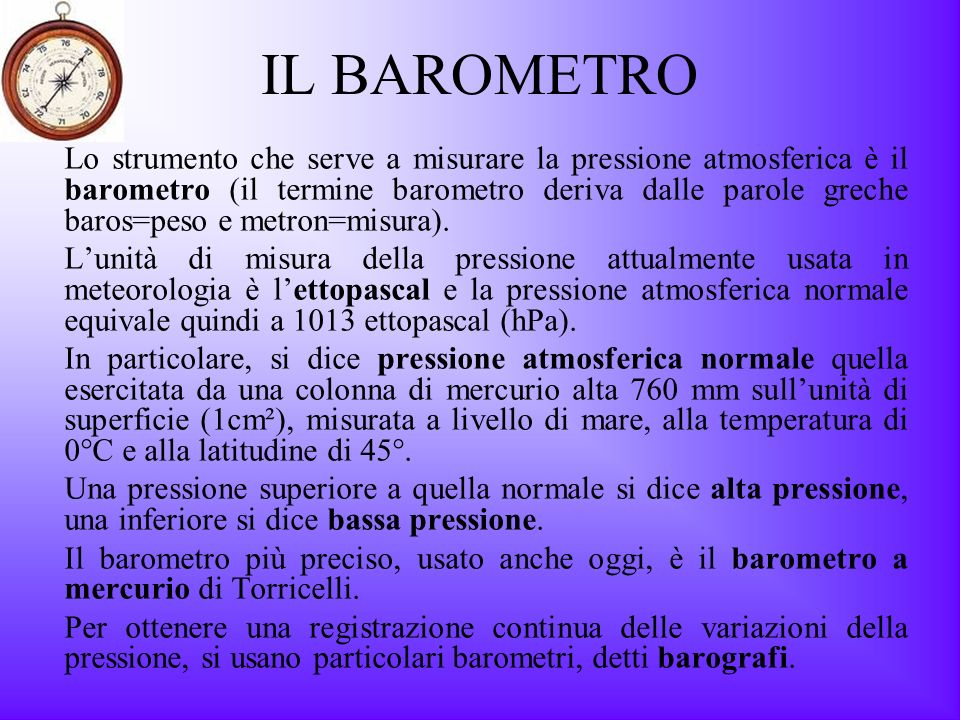 IL BAROMETRO