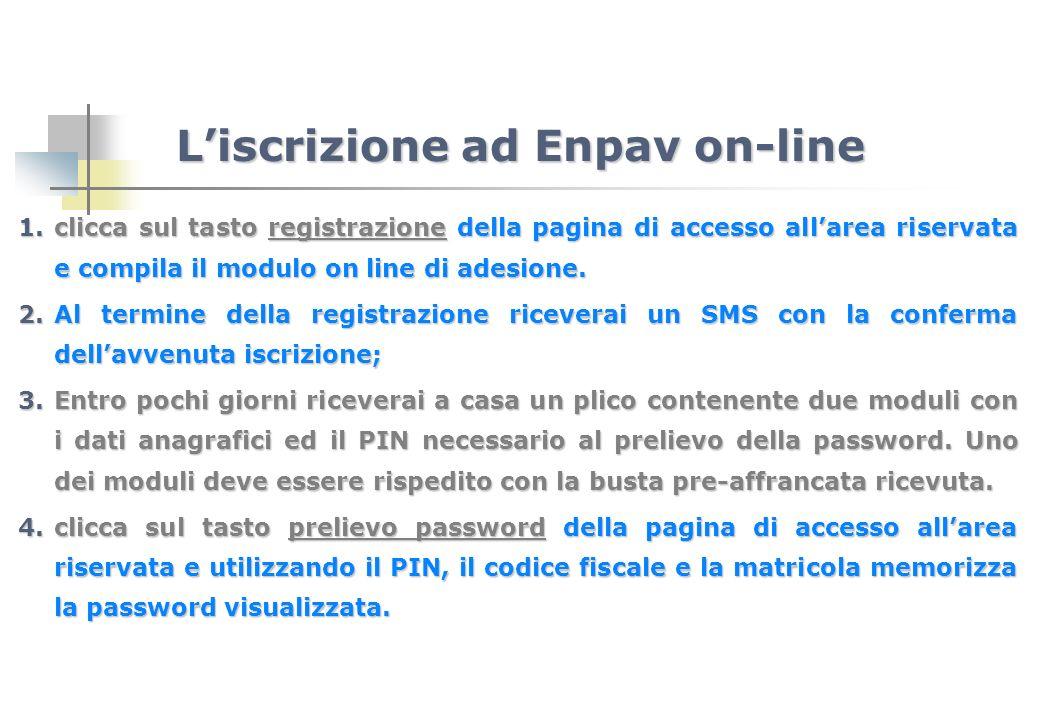L'iscrizione ad Enpav on-line