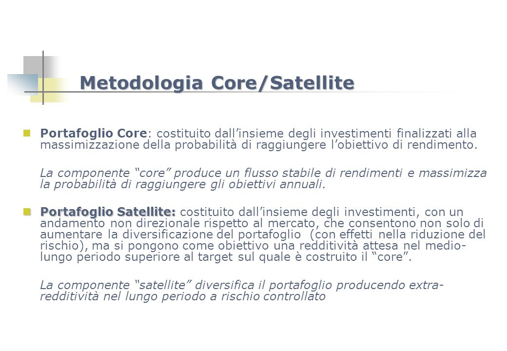 Metodologia Core/Satellite