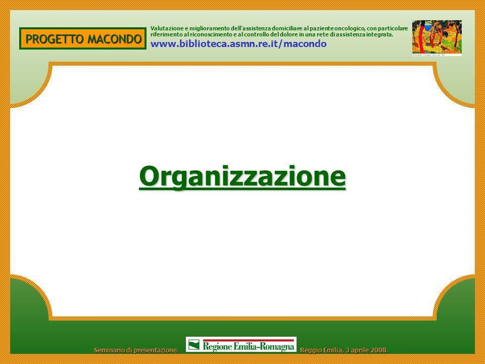 Organizzazione PROGETTO MACONDO www.biblioteca.asmn.re.it/macondo