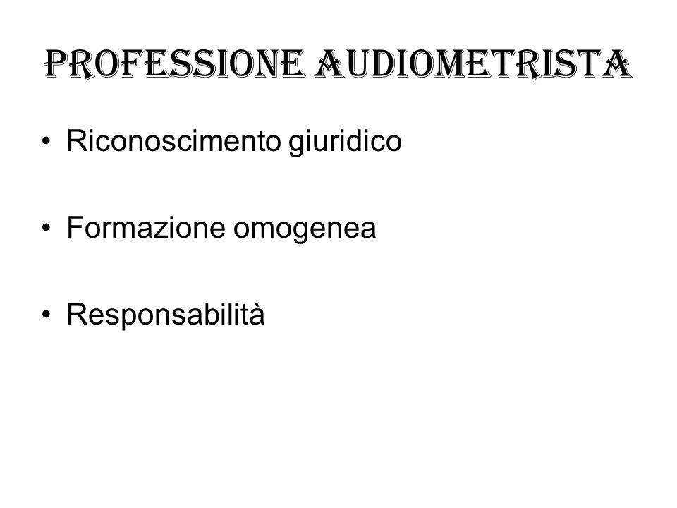 Professione audiometrista