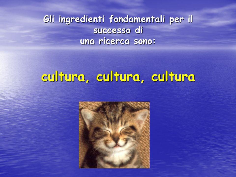 Gli ingredienti fondamentali per il cultura, cultura, cultura