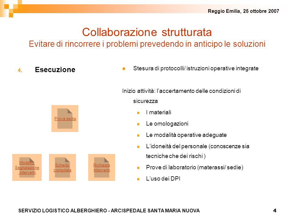 Reggio Emilia, 25 ottobre 2007 Collaborazione strutturata Evitare di rincorrere i problemi prevedendo in anticipo le soluzioni.