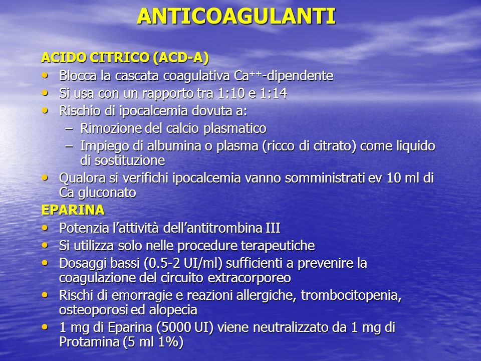 ANTICOAGULANTI ACIDO CITRICO (ACD-A)