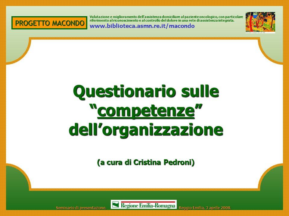 competenze dell'organizzazione (a cura di Cristina Pedroni)