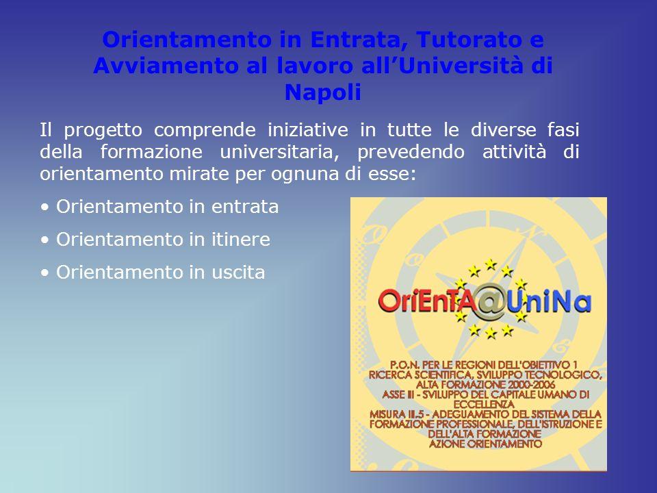 Orientamento in Entrata, Tutorato e Avviamento al lavoro all'Università di Napoli