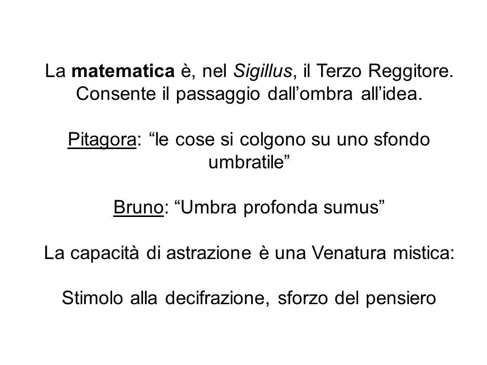 La matematica è, nel Sigillus, il Terzo Reggitore.