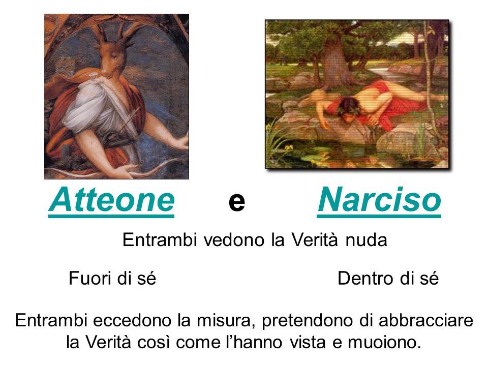 Atteone e Narciso Entrambi vedono la Verità nuda Fuori di sé