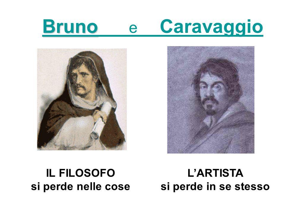 Bruno e Caravaggio IL FILOSOFO si perde nelle cose L'ARTISTA