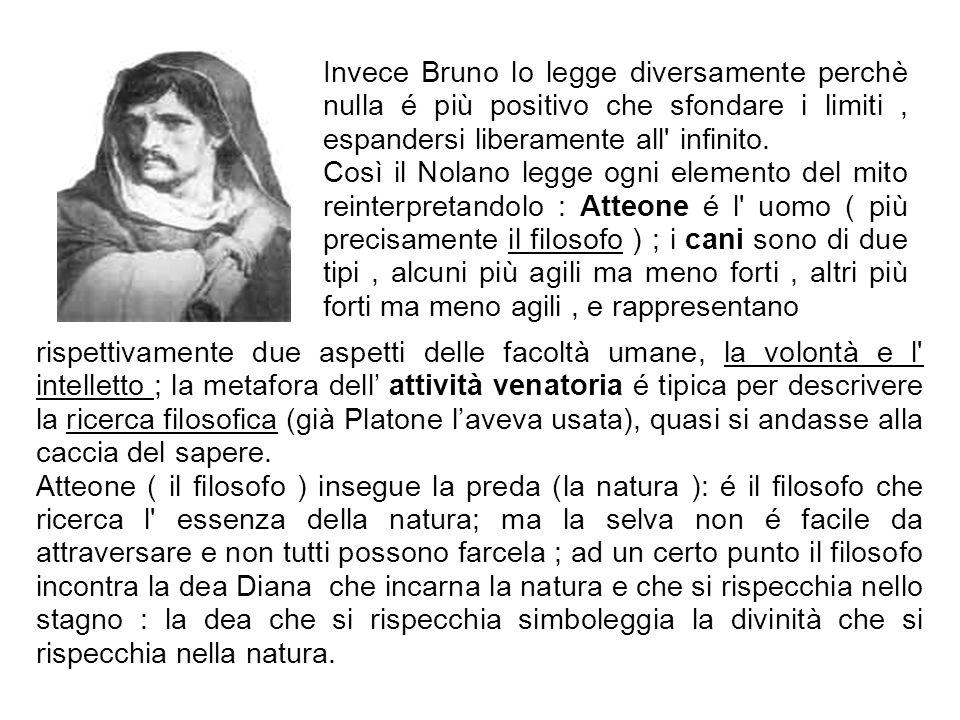 Invece Bruno lo legge diversamente perchè nulla é più positivo che sfondare i limiti , espandersi liberamente all infinito.