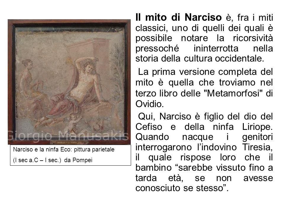 Il mito di Narciso è, fra i miti classici, uno di quelli dei quali è possibile notare la ricorsività pressoché ininterrotta nella storia della cultura occidentale.