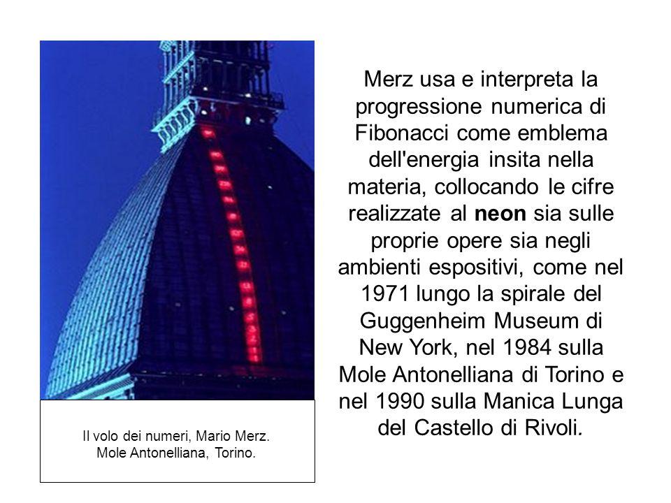Il volo dei numeri, Mario Merz. Mole Antonelliana, Torino.