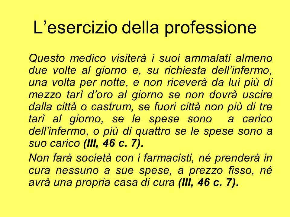 L'esercizio della professione