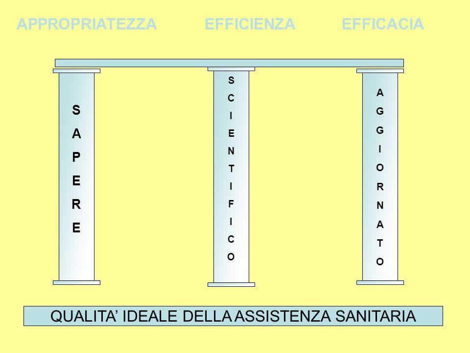 QUALITA' IDEALE DELLA ASSISTENZA SANITARIA