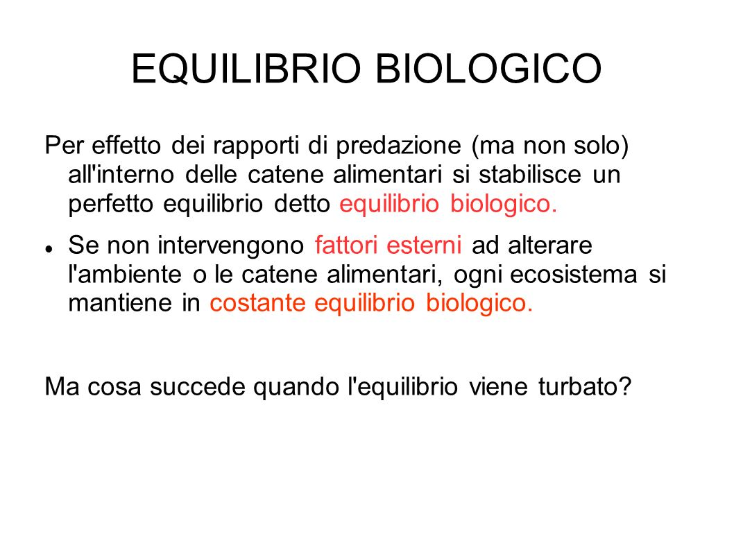 EQUILIBRIO BIOLOGICO