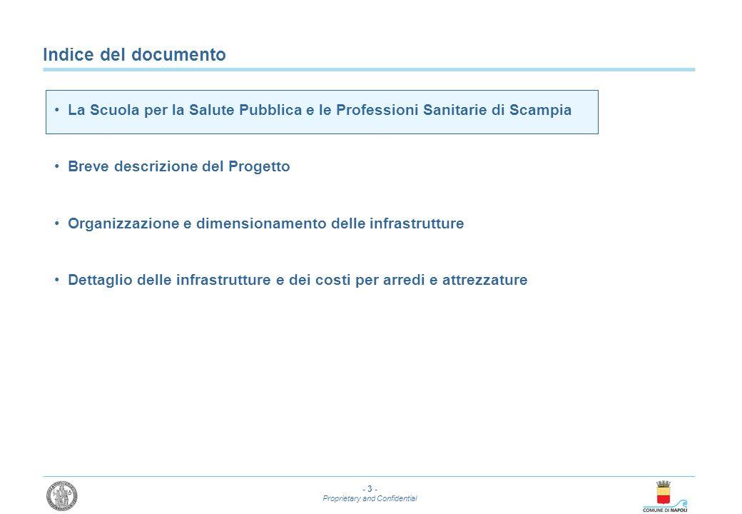 Indice del documento La Scuola per la Salute Pubblica e le Professioni Sanitarie di Scampia. Breve descrizione del Progetto.