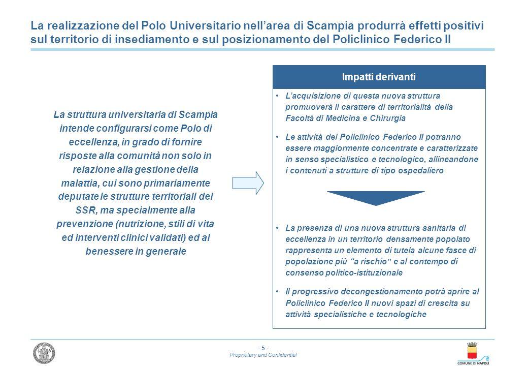 La realizzazione del Polo Universitario nell'area di Scampia produrrà effetti positivi sul territorio di insediamento e sul posizionamento del Policlinico Federico II