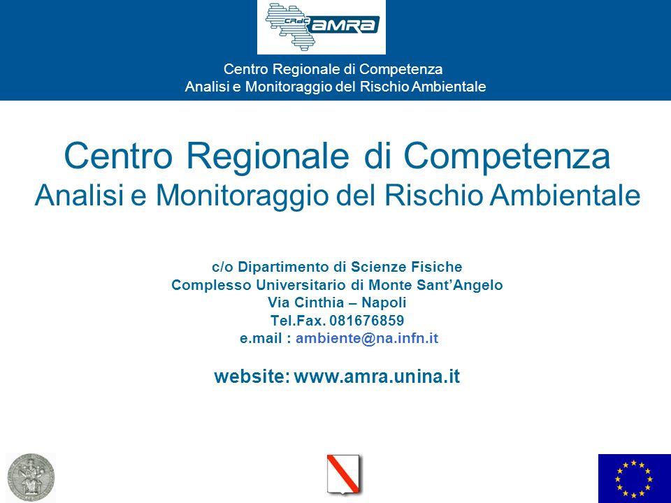 Centro Regionale di Competenza Analisi e Monitoraggio del Rischio Ambientale c/o Dipartimento di Scienze Fisiche Complesso Universitario di Monte Sant'Angelo Via Cinthia – Napoli Tel.Fax.