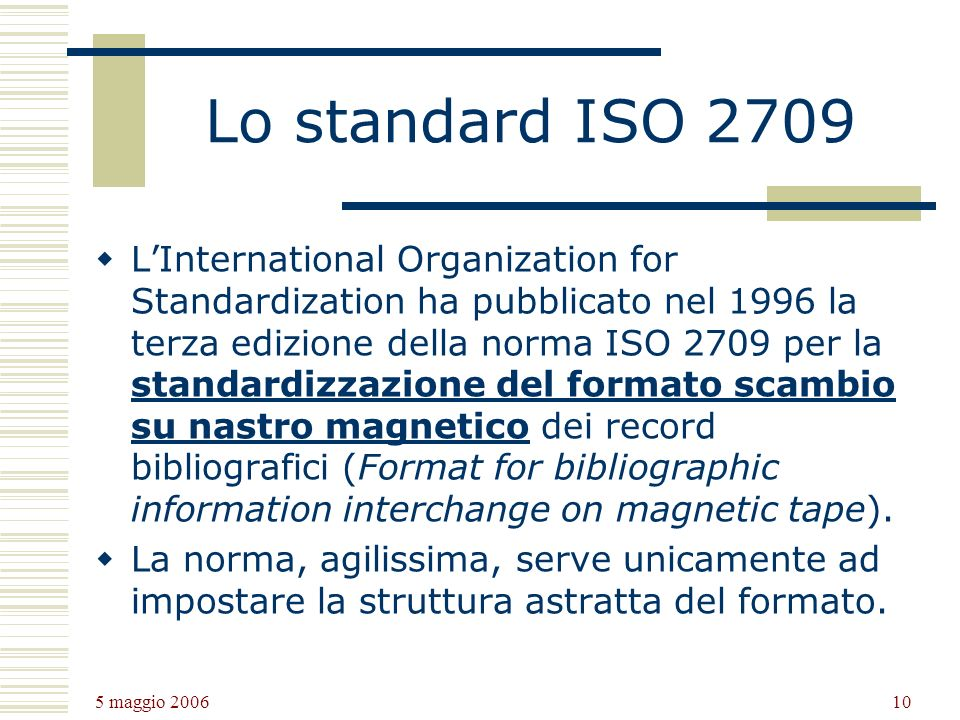 Lo standard ISO 2709