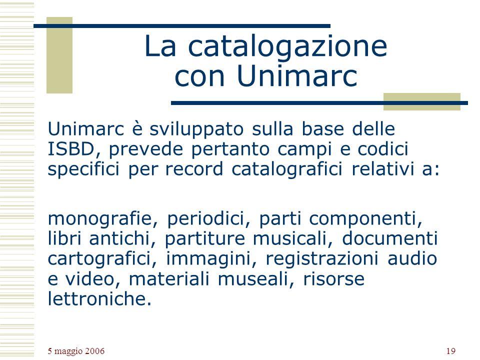 La catalogazione con Unimarc