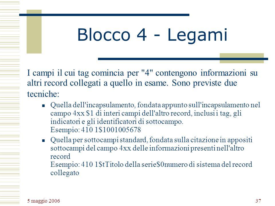 Blocco 4 - Legami