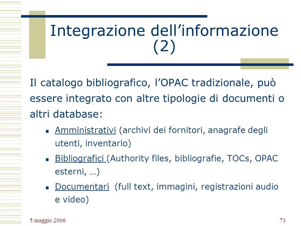 Integrazione dell'informazione (2)