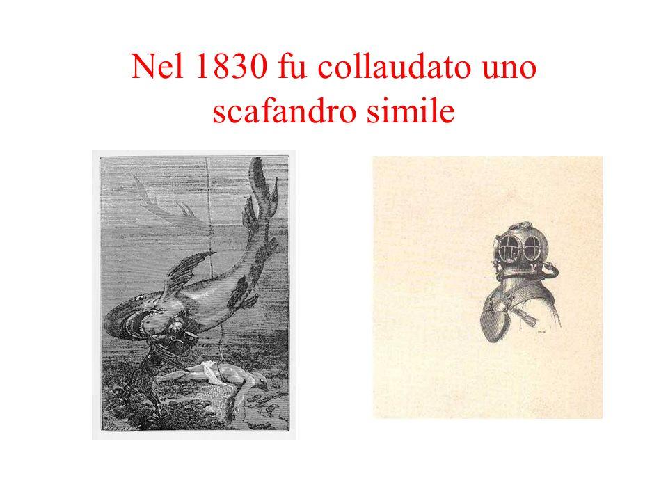 Nel 1830 fu collaudato uno scafandro simile