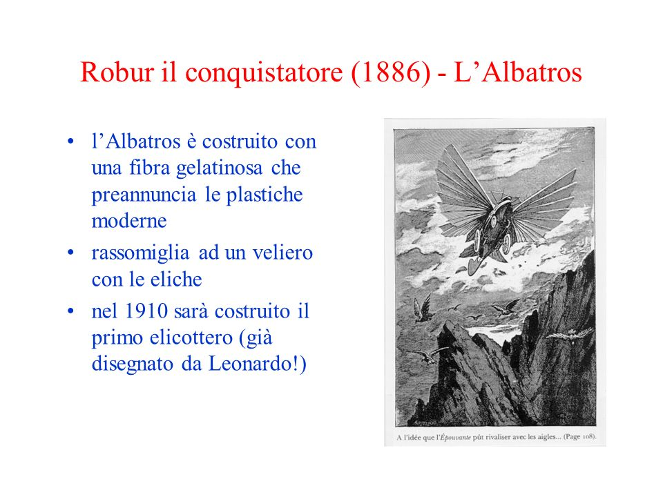 Robur il conquistatore (1886) - L'Albatros